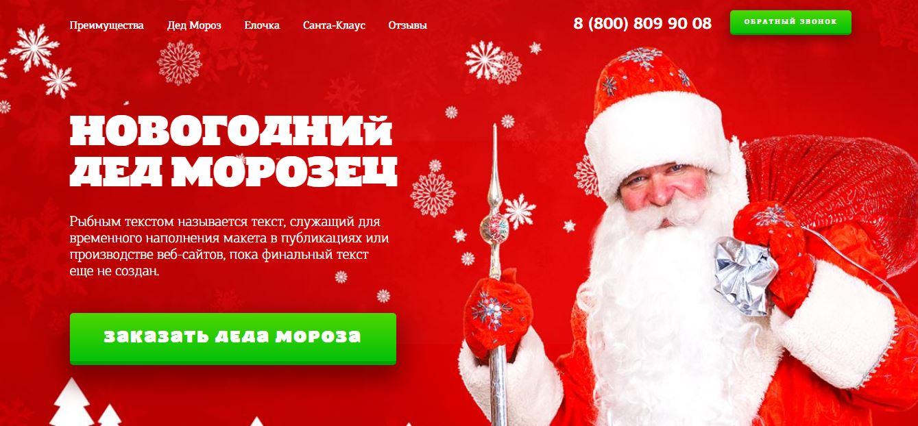 Заказ Деда Мороза на дом №4