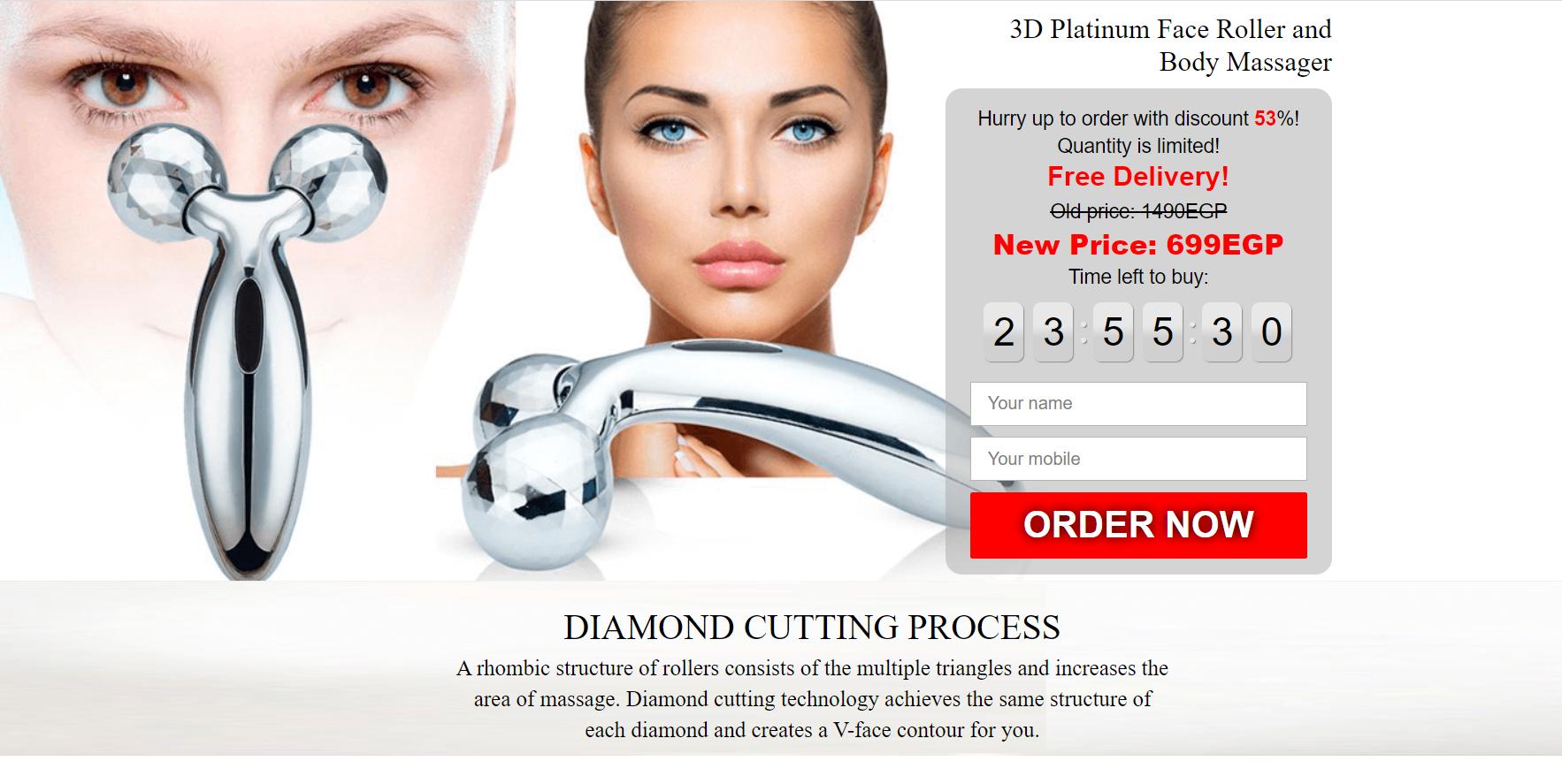 3D Massage Roller — массажер для обновления и восстановления тонуса кожи
